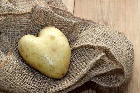 Herzkartoffel auf Stoff