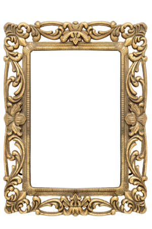 gold frame with intricate ornate gold designs