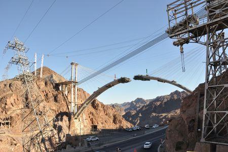 Hoover Dam Bypass Highway under Construction
