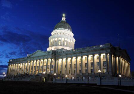 Utah Capitol at Twilight