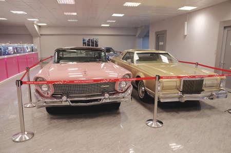 SOCHI, RUSSIA - JUNE 12, 2015: Collection of Lincoln Continental in the Sochi Auto Museum, on June 12 2015.