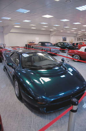 SOCHI, RUSSIA - JUNE 12, 2015: Jaguar XJ220 car in the Sochi Auto Museum, on June 12 2015.