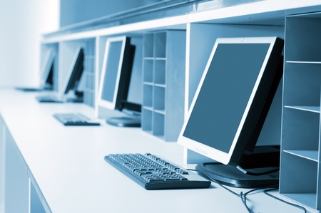 Photo for Modern computer room - Royalty Free Image
