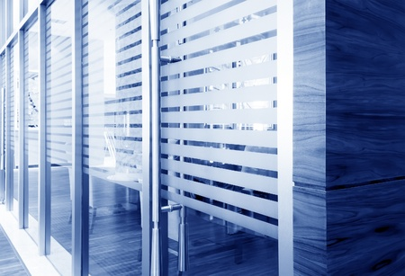 office corridor door glass partitions room business