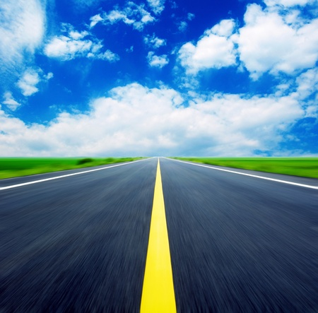 Blue sky, the endless highway.