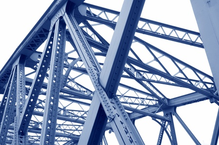 Photo for Support above the bridge, steel structure close-up   - Royalty Free Image