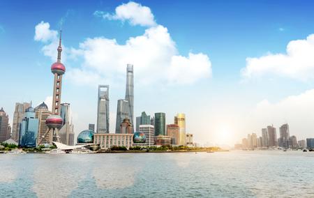 Modern city skyline, Shanghai, China