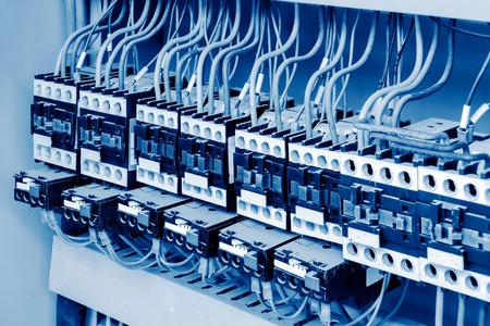 Photo pour Large car production line control box close - up - image libre de droit