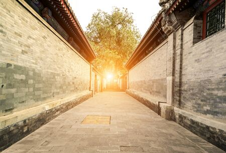 Photo pour Traditional architecture and alleys in Beijing - image libre de droit