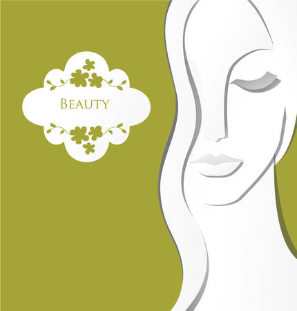 Illustration for Girl paper spa concept - Royalty Free Image