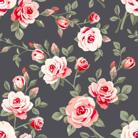 Illustration pour SEamless pattern with roses - image libre de droit