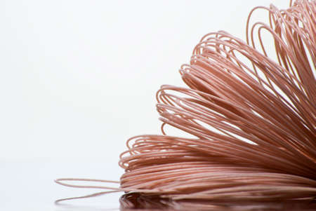 Skein of coated cooper wire