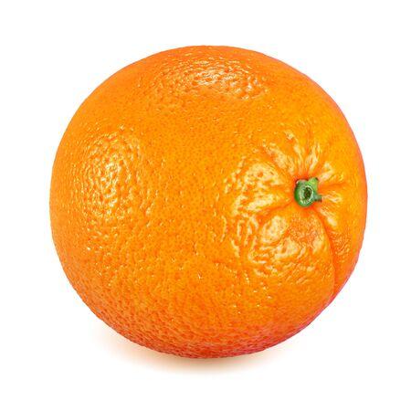 Photo for Whole ripe orange fruit isolated on white background - Royalty Free Image