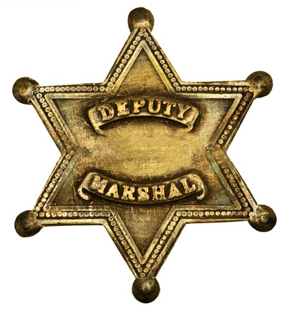 Star-shaped deputy marshall badge