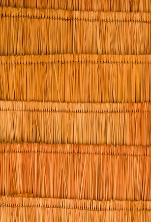 Texture of the classic thatch roof from inside view