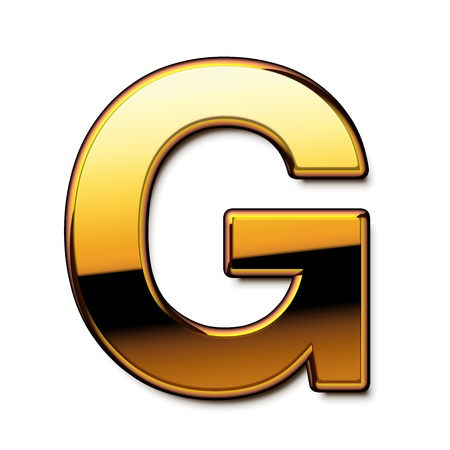 Gold letter G isolated
