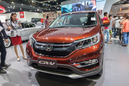 Nonthaburi,Thailand - March 26th, 2015: Honda CR-V on display,showed in Thailand the 36th Bangkok International Motor Show on 26 March 2015