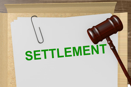 Photo for Settlement Title On Legal Documents - Royalty Free Image