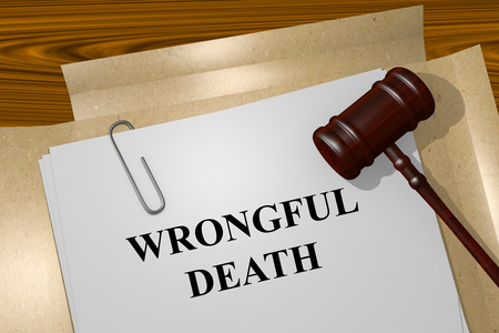 Render illustration of Wrongful Death title on Legal Documents