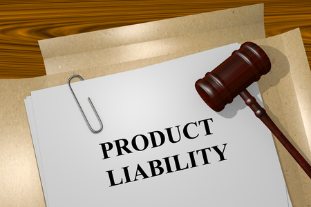 Render illustration of Product Liability title on Legal Documents