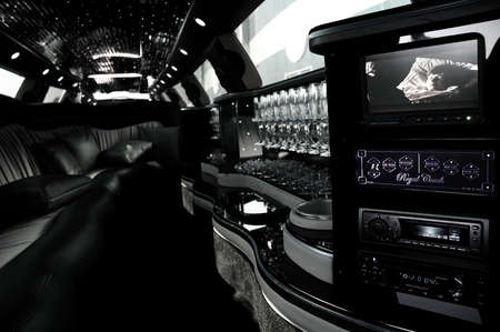 The Interior Space Of A Luxurious Limousine