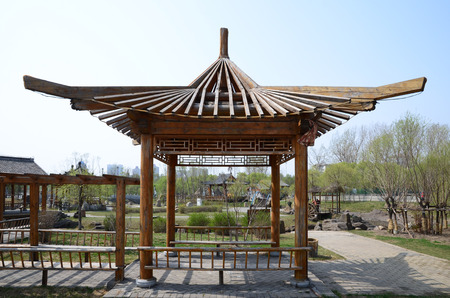 Corners wooden gazebo