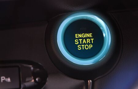 Photo for car engine push start or stop button - Royalty Free Image