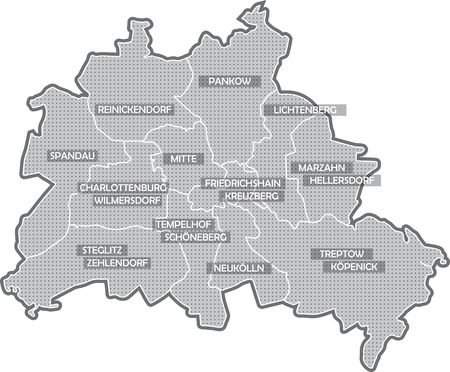 Map of Berlin, all districts