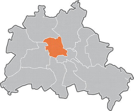 Map of Berlin, focus on district Mitte