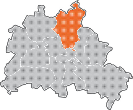 Map of Berlin, focus on district Pankow