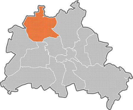 Map of Berlin, focus on district Reinickendorf
