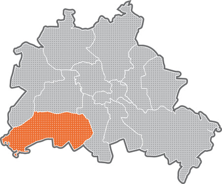 Map of Berlin, focus on district Steglitz Zehlendorf
