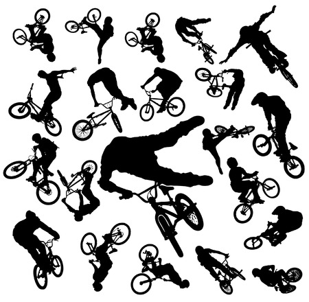 Vector Bike Jumping
