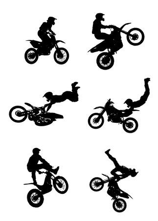 Illustration pour Jumping Motorcycle - image libre de droit