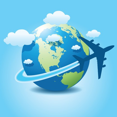 Photo for airplane travel - Royalty Free Image