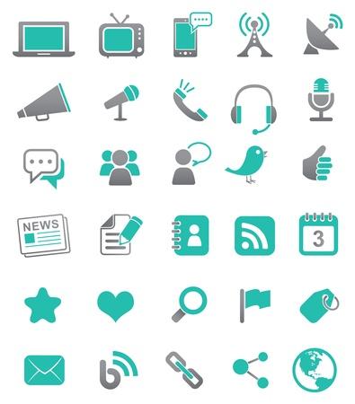 Illustration pour Media and Communication Icons - image libre de droit