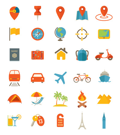 Photo for Travel Icons - Royalty Free Image