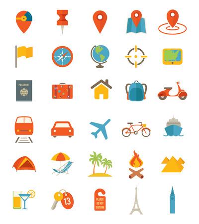 Illustration pour Travel Icons - image libre de droit