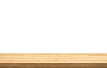 Photo for Real nature wood table top texture on white background.For create product display or design key visual layout.clipping path - Royalty Free Image