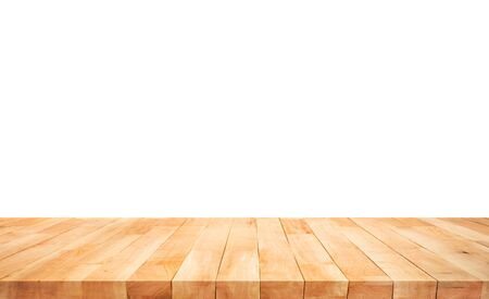 Photo pour Beautiful texture wood table top texture on white background.For create product display or design key visual layout.clipping path - image libre de droit
