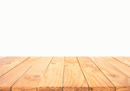 Photo for Beautiful texture wood table top texture on white background.For create product display or design key visual layout. - Royalty Free Image