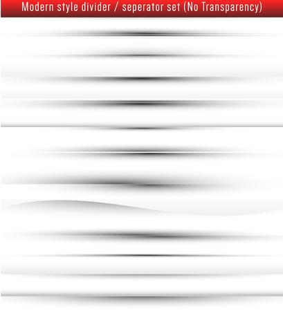 Modern style web page dividerseperator set.