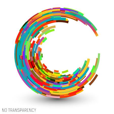 Illustration pour Colorful swirl icon, clip art, design element vector illustration - image libre de droit