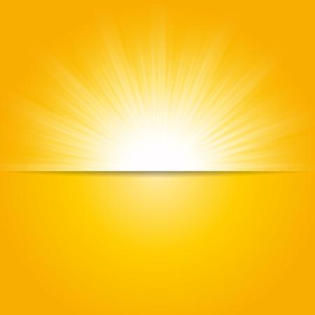 Illustration pour Shiny sun vector, sunbeams, sunrays background, banner design - image libre de droit