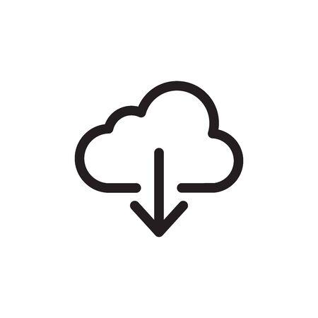 Illustration pour Cloud Download Icon In Trendy Design Vector - image libre de droit