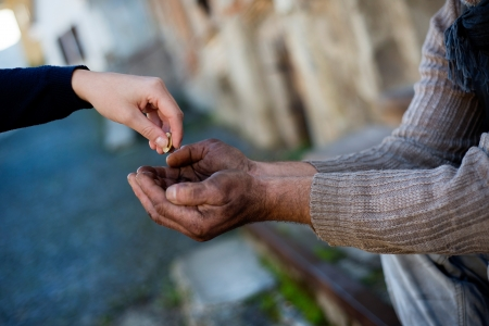 Photo for Begging hands - Royalty Free Image