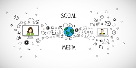 Illustration for Social media vector illustration - Royalty Free Image