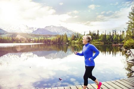 Foto für Senior women jogging  - Lizenzfreies Bild