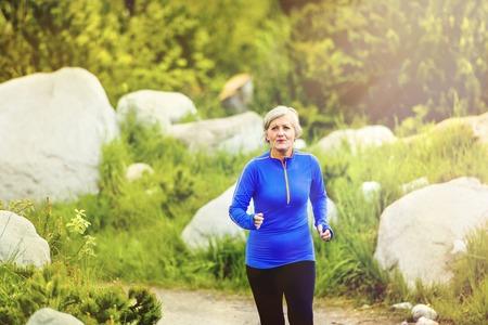 Foto für Senior women running  - Lizenzfreies Bild