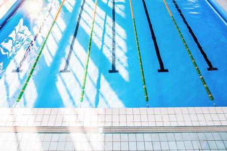 Foto für Lanes of an indoor public swimming pool. - Lizenzfreies Bild